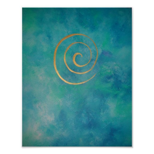 """Philip Bowman - Infinity Bright Blue """"- """" Poster"""