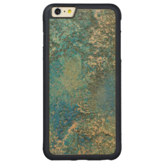 Philip Bowman Ocean Blue And Gold Abstract Art Carved Maple iPhone 6 Plus Bumper Case