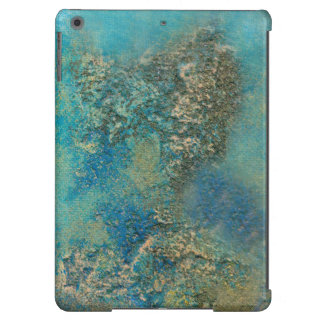 Philip Bowman Ocean Blue And Gold Abstract Art Cover For iPad Air