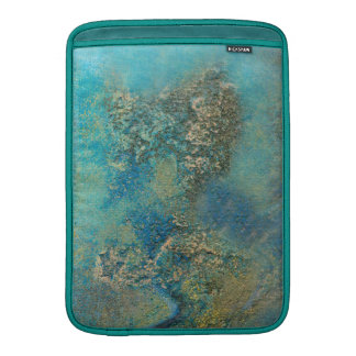 Philip Bowman Ocean Blue And Gold Abstract Art MacBook Sleeve