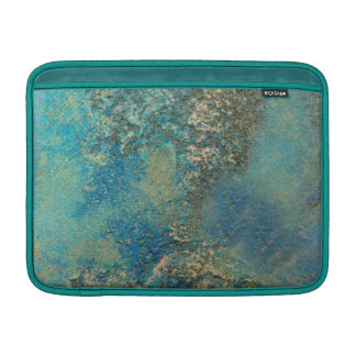 Philip Bowman Ocean Blue And Gold Abstract Art Sleeve For MacBook Air
