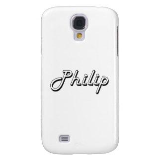 Philip Classic Retro Name Design Samsung Galaxy S4 Covers