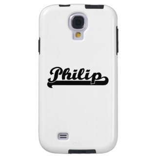 Philip Classic Retro Name Design Galaxy S4 Case
