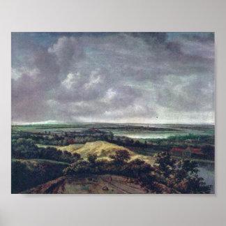 Philip de Koninck - paisaje panorámico del río Impresiones