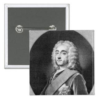 Philip Dormer Stanhope, engraved by John Simon Pinback Button