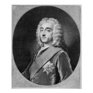 Philip Dormer Stanhope, engraved by John Simon Posters