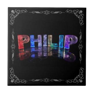 Philip - el Philip conocido en 3D se enciende (fot Azulejo Cuadrado Pequeño