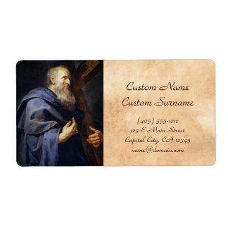 Philip el retrato de Peter Paul Rubens del apóstol Etiquetas De Envío