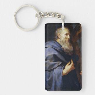 Philip el retrato de Peter Paul Rubens del apóstol Llavero Rectangular Acrílico A Doble Cara