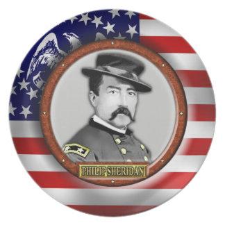 Philip Henry Sheridan Civil War Dinner Plate