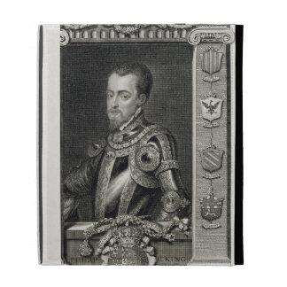 Philip II (1527-98) King of Spain from 1556, engra iPad Folio Cover