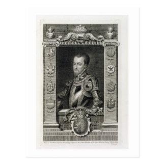 Philip II (1527-98) King of Spain from 1556, engra Post Card