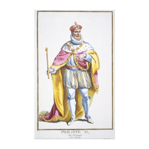 Philip II (1527-98) King of Spain from 'Receuil de Canvas Print