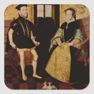 Philip II and Mary I, 1558 Square Sticker