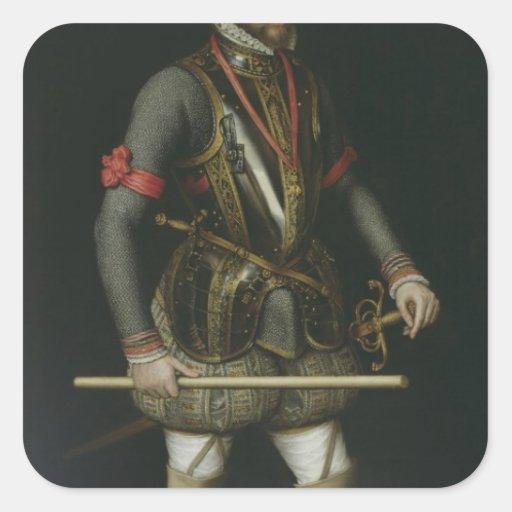 Philip II de España Calcomanías Cuadradases