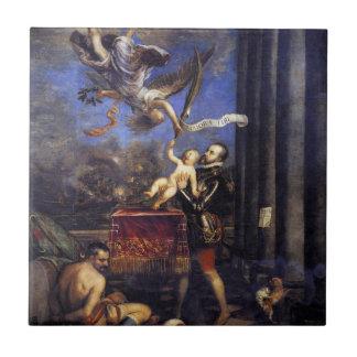 Philip II Don de ofrecimiento Fernando a la Azulejo Cuadrado Pequeño