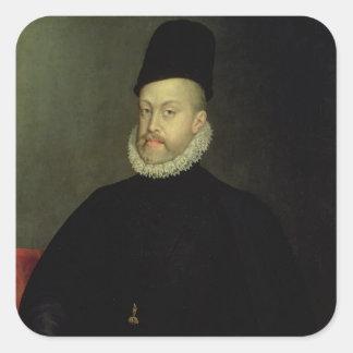 Philip II of Spain  1565 Square Sticker