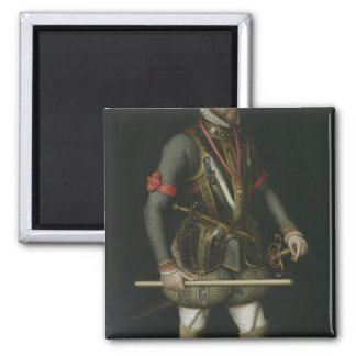 Philip II  of Spain 2 Inch Square Magnet