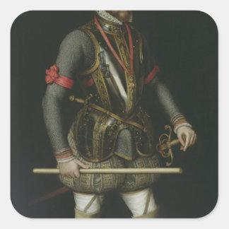 Philip II  of Spain Square Sticker