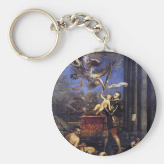 Philip II Offering Don Fernando to Victory Titian Keychain