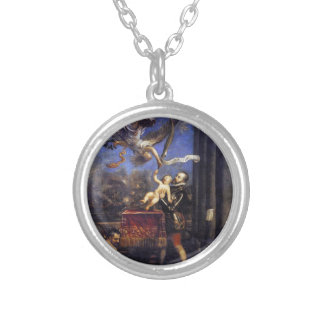 Philip II Offering Don Fernando to Victory Titian Round Pendant Necklace