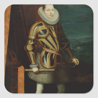 Philip III  King of Spain, 1606 Square Sticker