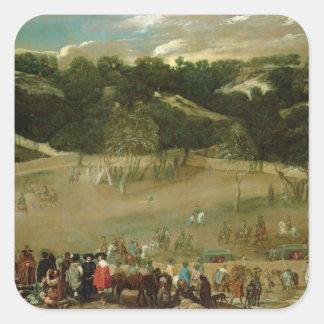 Philip IV Hunting Wild Boar , c.1632-7 Square Sticker