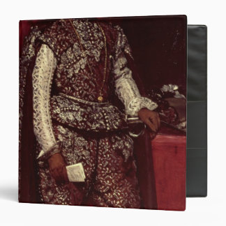 Philip IV  of Spain in Brown and Silver 3 Ring Binder