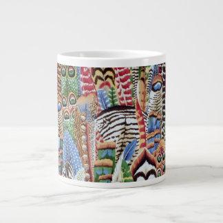 Philip Jacobs Fabric Feather Mug 20 Oz Large Ceramic Coffee Mug