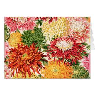 Philip Jacobs Fabric Japanese Chrysanthemum Card