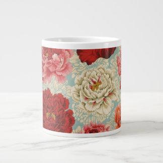 Philip Jacobs Fabric Large Brocade Peony Mug 20 Oz Large Ceramic Coffee Mug