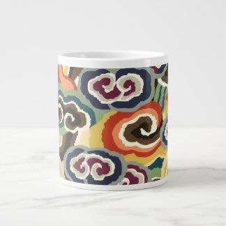 Philip Jacobs Fabric, Tibetan Cloud Scroll Mug. Giant Coffee Mug