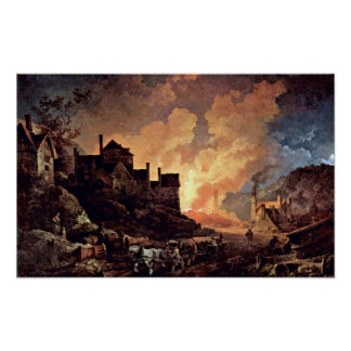 Philip James de Loutherbourg - Coalbrookdale Poster