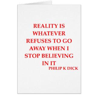 philip k dick quote greeting card