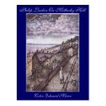Philip Larkin en la postal del arte de la colina d