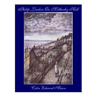 Philip Larkin On Motherby Hill Art Postcard