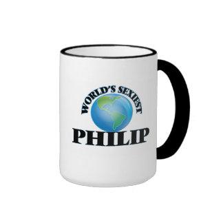 Philip más atractivo del mundo taza de dos colores