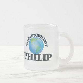 Philip más caliente del mundo taza de cristal
