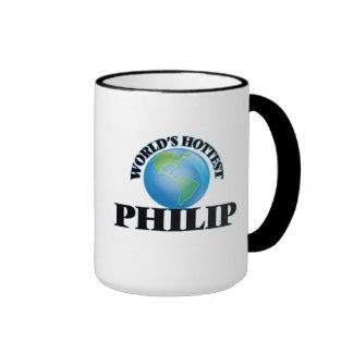 Philip más caliente del mundo taza de dos colores