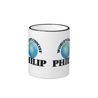 Philip más fresco del mundo taza de dos colores