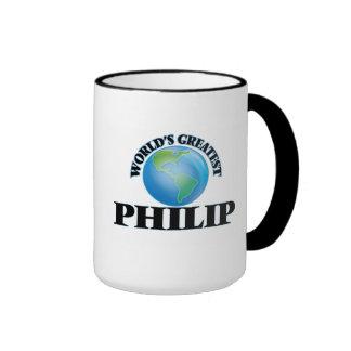 Philip más grande del mundo taza a dos colores