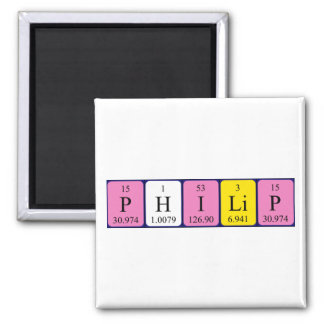 Philip periodic table name magnet