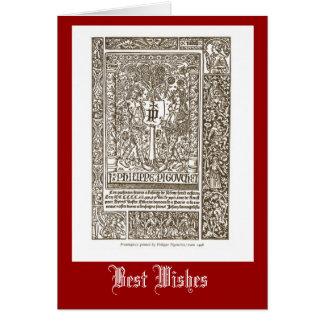 Philip Pigovchet 1517 Tarjeta De Felicitación