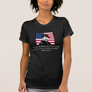 Philip Sheridan and Quote About Texas -- Black T-Shirt