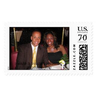 Philip & Tamia's Wedding Celebration Postage Stamps