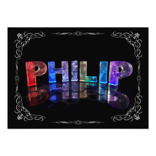 Philip  - The Name Philip in 3D Lights (Photograph