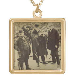 Philip Webb (1831-1915) During the Construction of Gold Plated Necklace