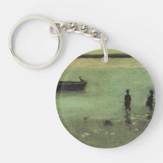 Philip Wilson Steer- Beach at Etaples Single-Sided Round Acrylic Keychain