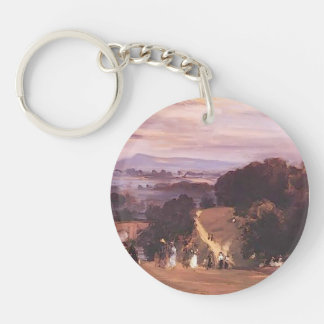 Philip Wilson Steer- Ludlow Walks Single-Sided Round Acrylic Keychain