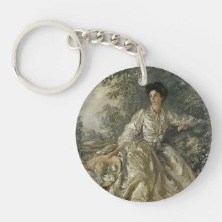 Philip Wilson Steer- Mrs Violet M. Hammersley Single-Sided Round Acrylic Keychain